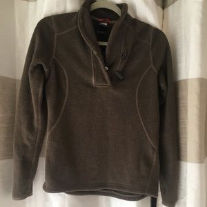 The north face small brown pullover sweater
